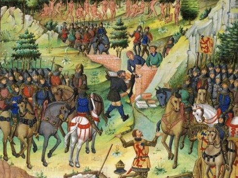 Jean Wauquelin 1400-tallet Gog og Magog bag Alexanders mur